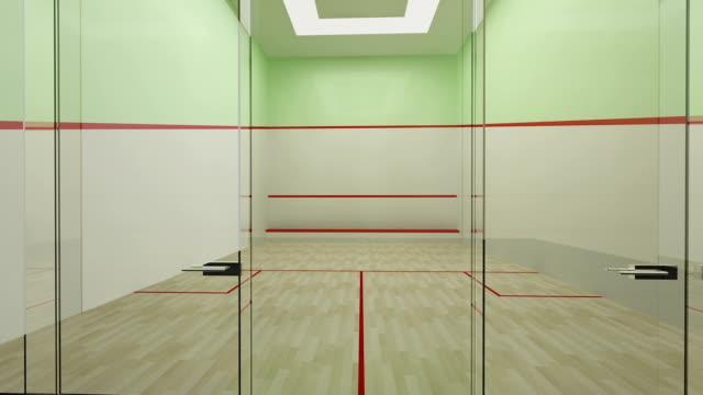 Empty squash court video