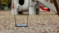 Empty Swing at Playgound video