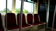 empty tram seats video
