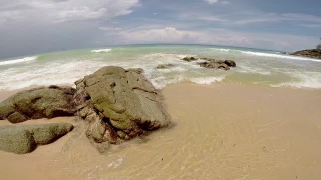 Empty tropial beach. video