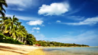 Empty tropical beach video