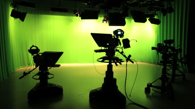Empty TV studio with lights video