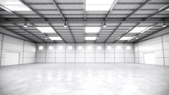 Empty Warehouse Tour (Seamless Loop) video