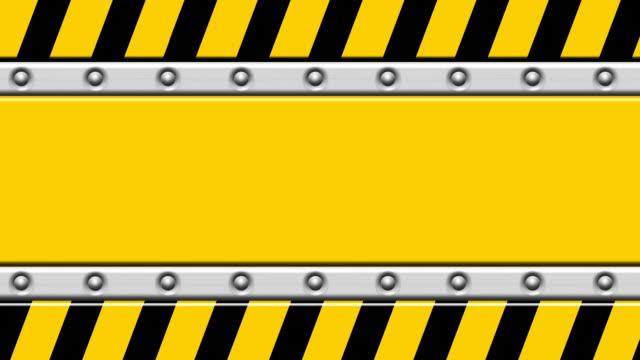 Empty warning signboard animation. video