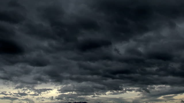 End of storm. Black clouds are leaving video