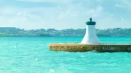 End of the Kings Wharf Harbour in Bermuda video