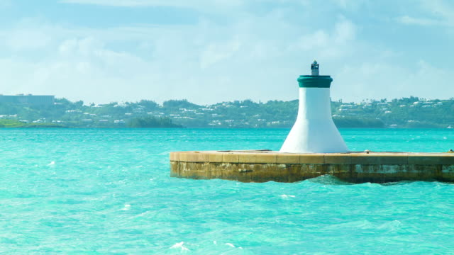 End of the Kings Wharf Harbour in Bermuda video