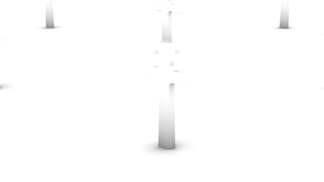 Endless crosses vertigo effect (white) video