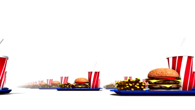 Endless Fast Foods low angle loop video