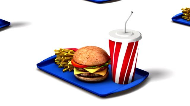 Endless Fast Foods vertigo effect video