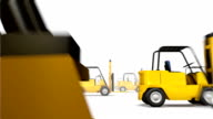 Endless Forklifts low angle loop video