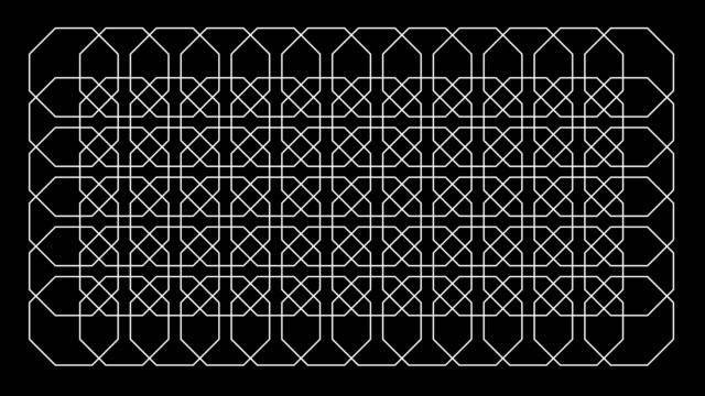 Endless Octagon Kaleidoscope Pattern Background Pattern video