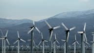 Endless Rows of  Wind Turbines - HD video