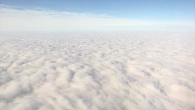 Endless solid cloudfield aerial view video