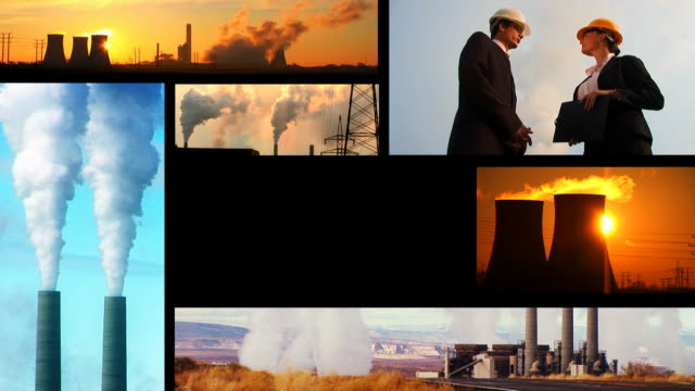 Energy and Pollution montage video