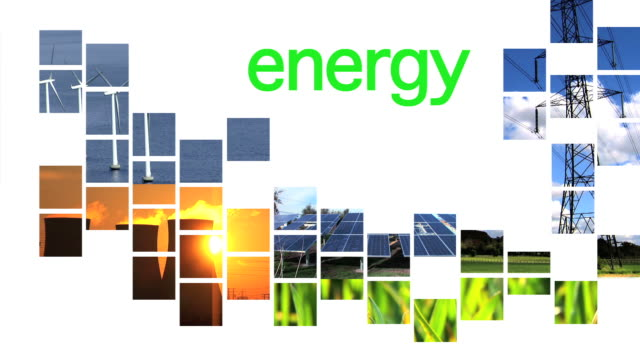 Energy collage & text video