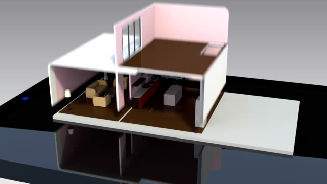 Energy efficient house presented on tablet PC video