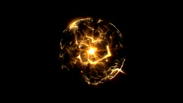 Energy or plasma ball orange video