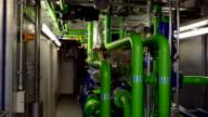 Engine room Bio gas power plant video