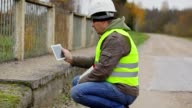 Engineer filmed with tablet PC damaged bridge video