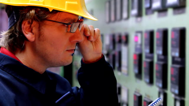 Engineer in a control room video