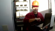 Engineer Using A Laptop Computer video