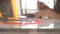 Engineer working on circuit board video