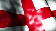 England Flag waving, looping video
