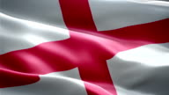 England national flag. (New surge effect) video