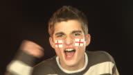 England soccer / football sports fan - HD & PAL video