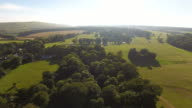 English countryside aerial view video