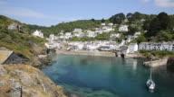 English fishing village and harbour Polperro Cornwall England UK video