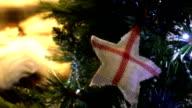 English symbol on Christmas tree video