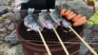 Enjoy fish and meat at BBQ video