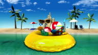 Enjoy holiday vacation in tropical beach concept video
