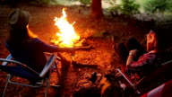 Enjoy the evening and nature in front of the campfire video