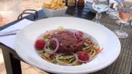Enjoy your tartare steak at beach! video