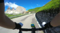 Enjoying a bicycle ride on the beautiful Dolomiti landscape video