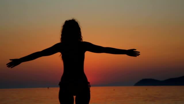 Enjoying A Sunset At The Beach video