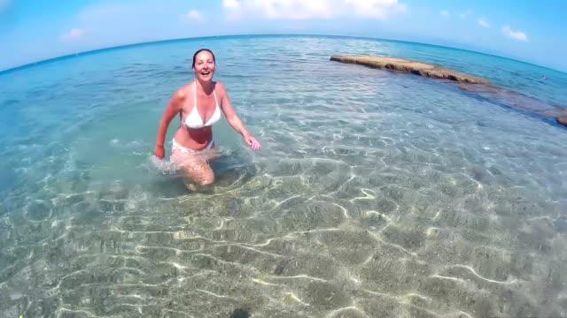 Enjoying at the sea video