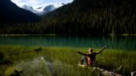 Enjoying beauty in nature video