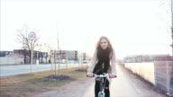 Enjoying bicycle ride video