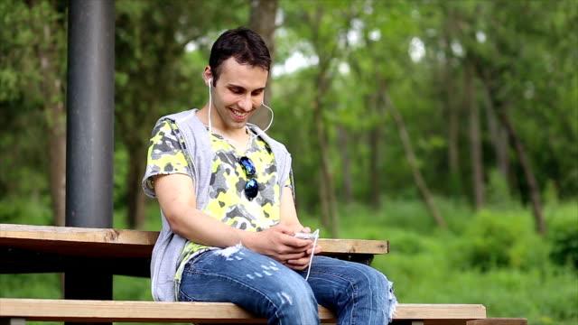Enjoying nature and music video