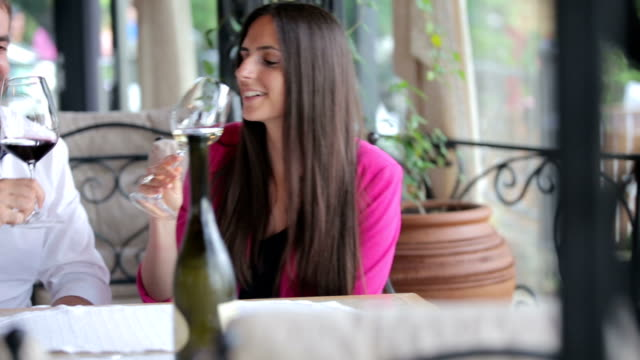 Enjoying restaurant video