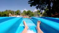 Enjoyment on the water slide video