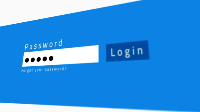 Enter password on web site. Authorization in payment system video