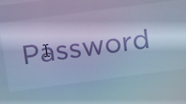 Enter password,Close up video