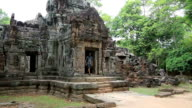 Entrance Door of a Temple in Angkor Wat, Cambodia video