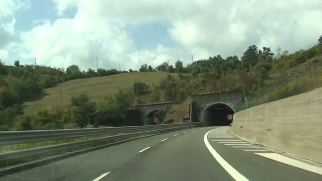 Entrance in a tunnel and exit video