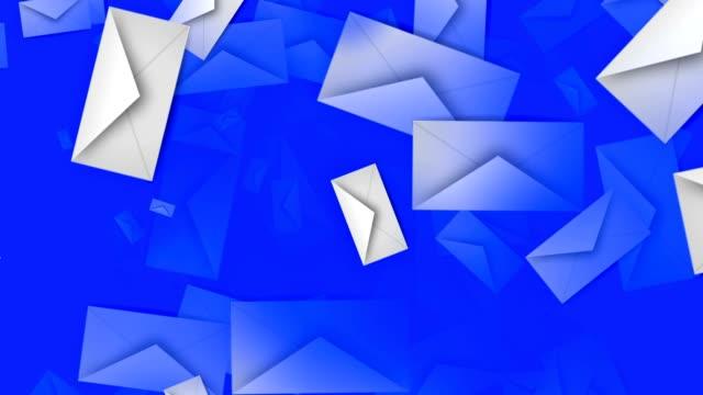 Envelopes in white on blue video